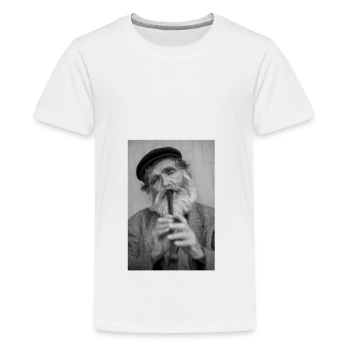 Flötenspieler Logo - Teenager Premium T-Shirt
