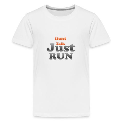 Just Run Limited Shirt, Motivation Laufen, Joggen - Teenager Premium T-Shirt
