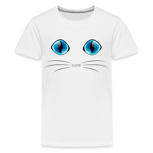 Katzenaugen Blau - Teenager Premium T-Shirt
