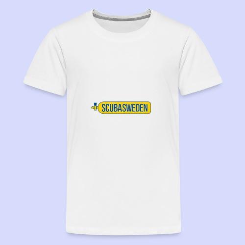 scubasweden logo - Premium-T-shirt tonåring