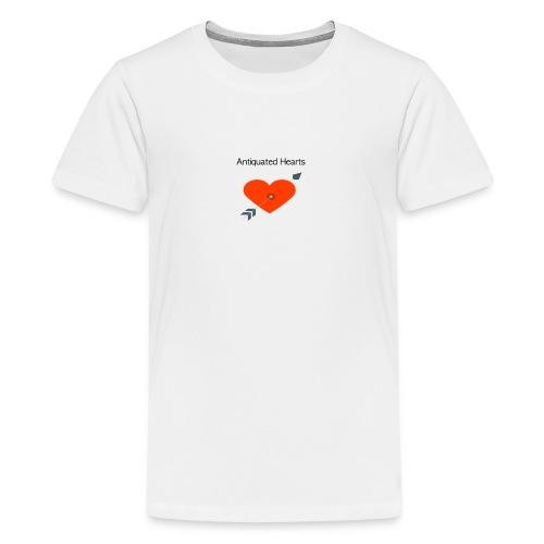 Antiquated Hearts cupids arrow - Teenage Premium T-Shirt