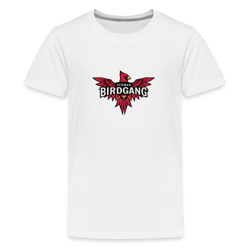 German Birdgang Logo White - Teenager Premium T-Shirt
