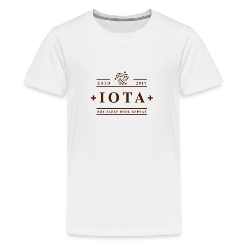 Iota Buy Sleep Hodl Repeat - Teenager Premium T-Shirt