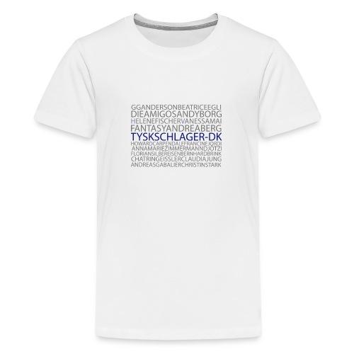Schlagernavne - Teenager premium T-shirt