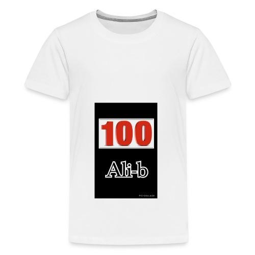 Limited edition Ali-b 100 subscribes merchandise - Teenage Premium T-Shirt