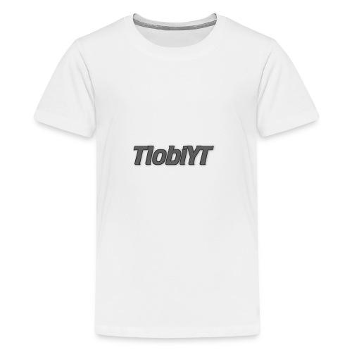 TlobiYT Gray - Teenager Premium T-Shirt