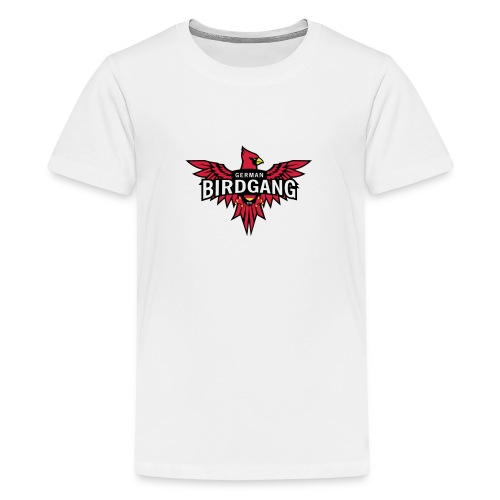 German Birdgang Logo White - Teenager Premium T-Shirt