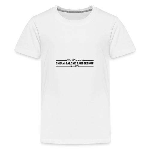 Barbershop black on white. - Teenage Premium T-Shirt