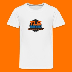 TLS Maniac Logo With Transparent Outline - Teenage Premium T-Shirt