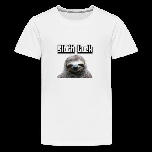 Sloth Luck - Teenage Premium T-Shirt