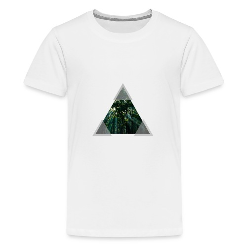 Triangle Forest window - Teenage Premium T-Shirt