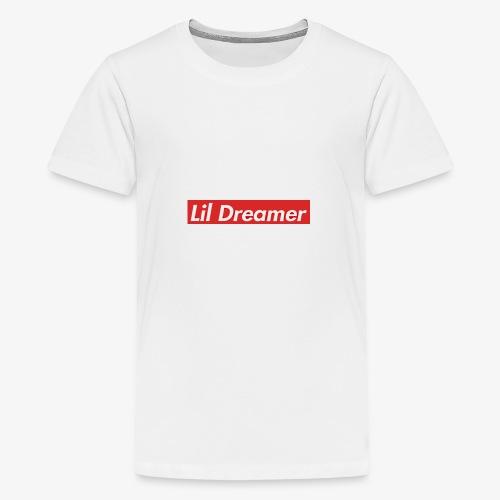 Lil Dreamer - Red Box Design - Teenage Premium T-Shirt