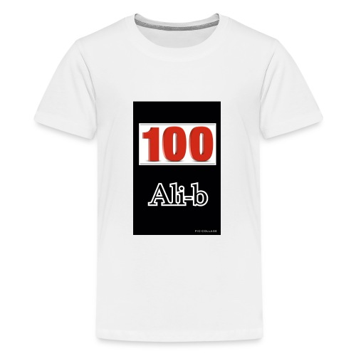 Limited edition Ali-b 100 subscribes merchandise - Teenage Premium T-Shirt