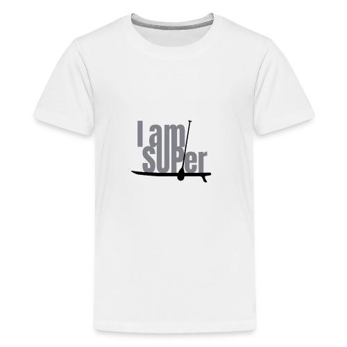 IamSUPer 002 design blackgrey Artboard 1 - Teenager Premium T-Shirt
