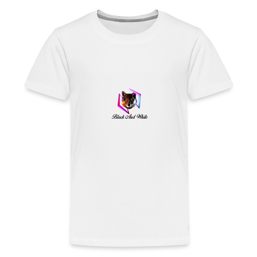 Logo Black And White Centrale - Maglietta Premium per ragazzi