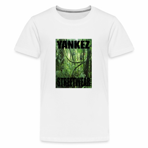 Yankez Backprint Jungle - Teenager Premium T-Shirt