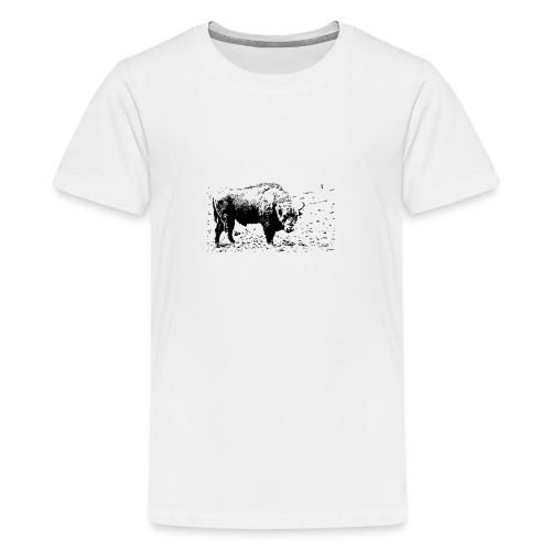 Żubr - kontrast - Koszulka młodzieżowa Premium