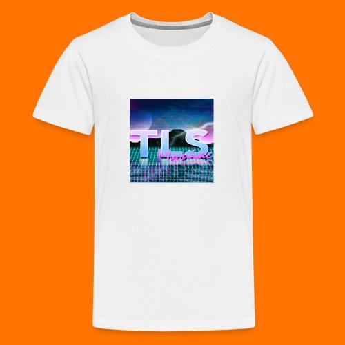 80s Themed TLS Maniac Logo - Teenage Premium T-Shirt