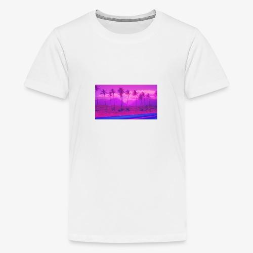 Vaporwave Landscape - Teenager Premium T-Shirt