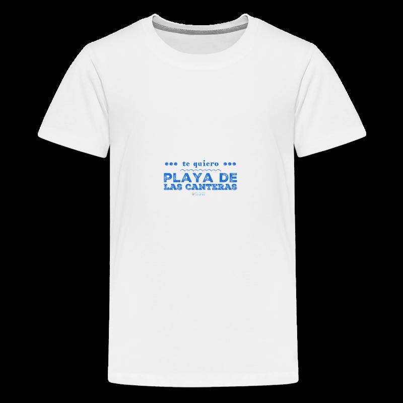 Te quiero Playa de Las Canteras - Camiseta premium adolescente