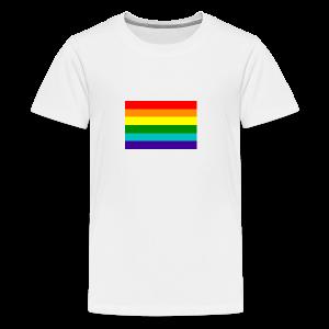 Gay pride rainbow vlag - Teenager Premium T-shirt