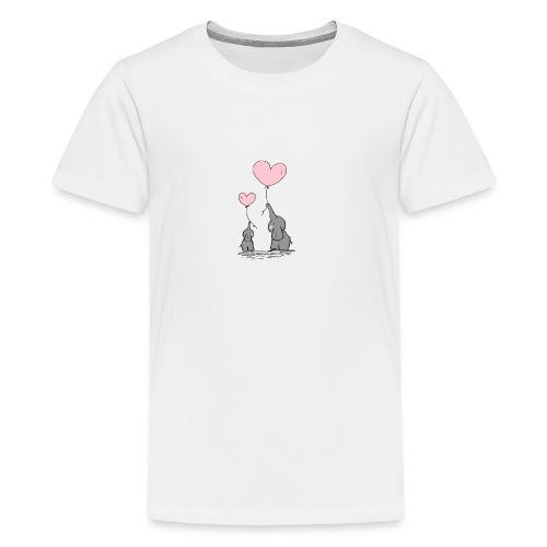 Éléphant Amoureux - T-shirt Premium Ado