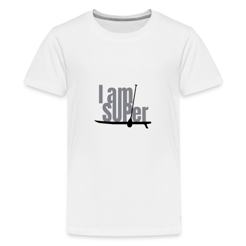 IamSUPer 002 design blackgrey Artboard 1 - Teenager Premium T-Shirt