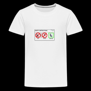 Windowseat Safety Instructions - Teenage Premium T-Shirt