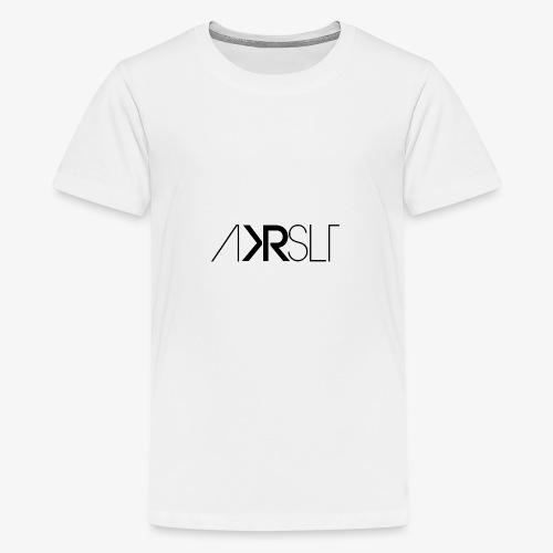 AKRSLT sign black - Teenager Premium T-Shirt