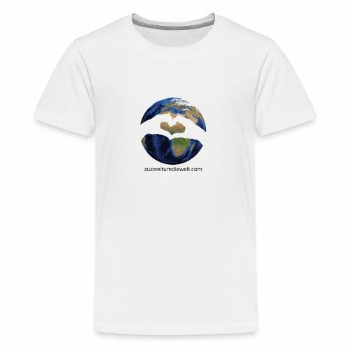 Zu zweit um die Welt: Logo mit Schriftzug - Teenager Premium T-Shirt