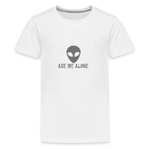 Are we alone logo - Teenage Premium T-Shirt