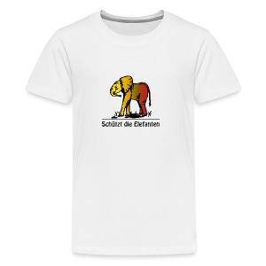 Schützt die Elefanten(-Kinder) - Teenager Premium T-Shirt