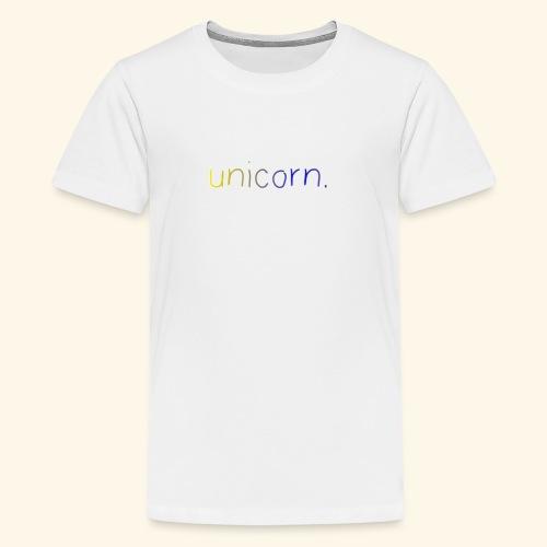 little unicorn. - Teenager Premium T-Shirt