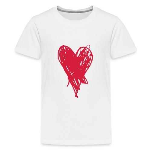 Cœur et amour pour dire je t'aime, i love you - T-shirt Premium Ado