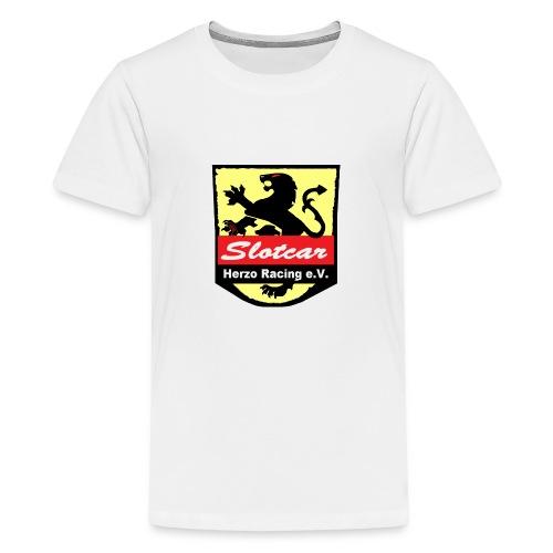 HR Logo Schwarz (für alle Hintergründe) - Teenager Premium T-Shirt