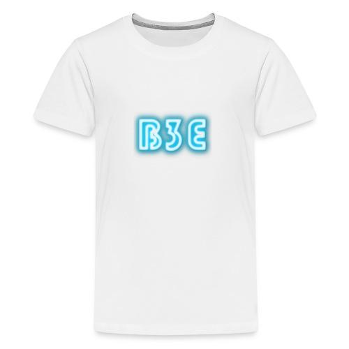 B3E: Logo - Neon - Teenage Premium T-Shirt