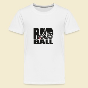 Radball | Typo Black - Teenager Premium T-Shirt