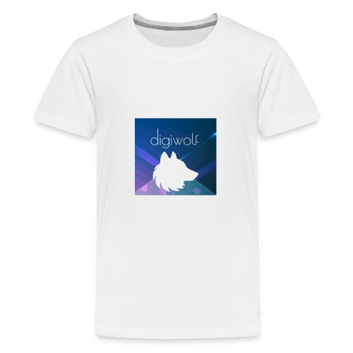 Digiwolf Logo Print - Teenage Premium T-Shirt