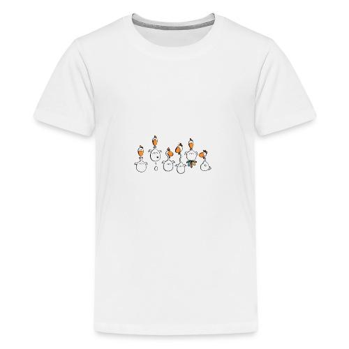 crazy chicken - Teenager Premium T-Shirt