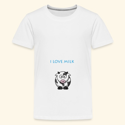 I LOVE MILK GARCON - T-shirt Premium Ado