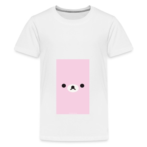 Cute Pink Bear Merch - Teenage Premium T-Shirt