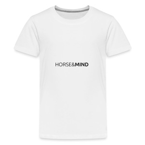Horse and Mind - Typo - Teenager Premium T-Shirt