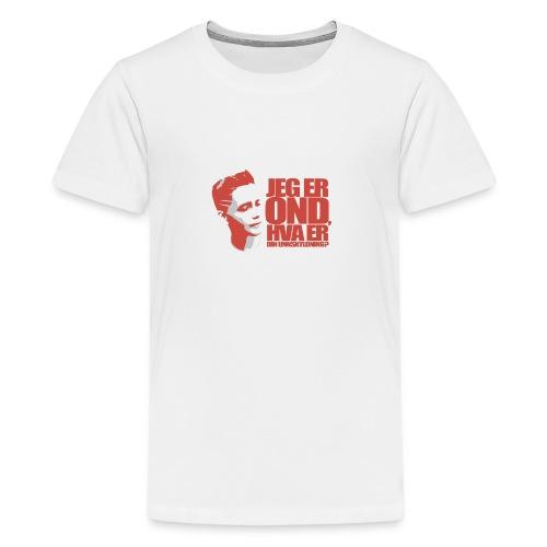 BEOP - OND Original design LYS - Premium T-skjorte for tenåringer