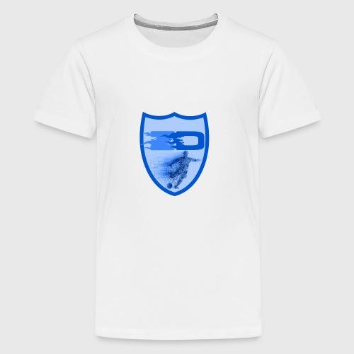 J R Footballers Shield Logo - Teenage Premium T-Shirt