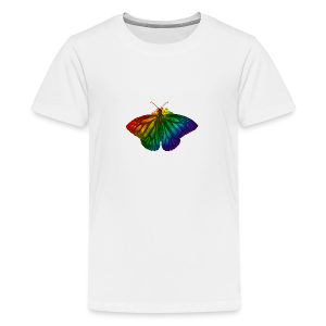 Regenboog vlinder - Freedom, Love en Happiness - Teenager Premium T-shirt