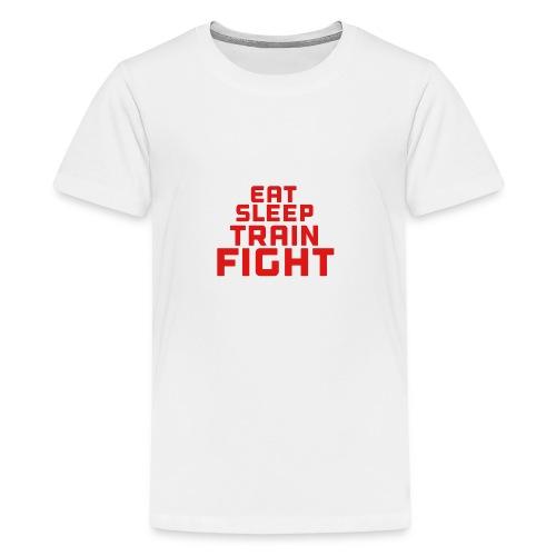 Eat sleep train fight - Teenage Premium T-Shirt