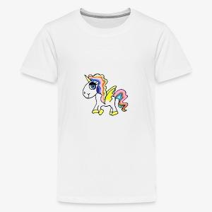 Buntes lässiges Einhorn - Teenager Premium T-Shirt