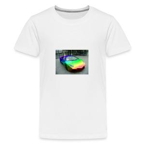 bakgrund - Premium T-skjorte for tenåringer