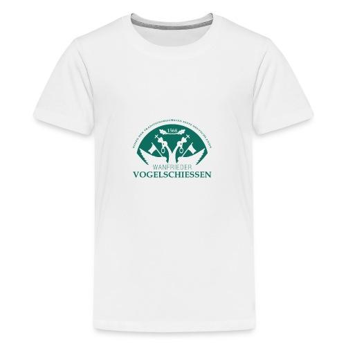Logo Wanfrieder Vogelschiessen Einfarbig - Teenager Premium T-Shirt