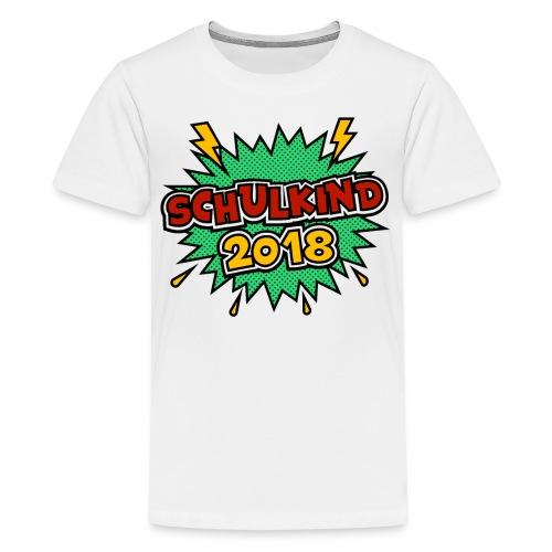 Schulkind ein schönes Geschenk zum Schulantritt - Teenager Premium T-Shirt